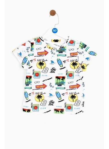 BG Baby Erkek Bebek Desenli T-Shirt 19SS2BG1551 Renkli